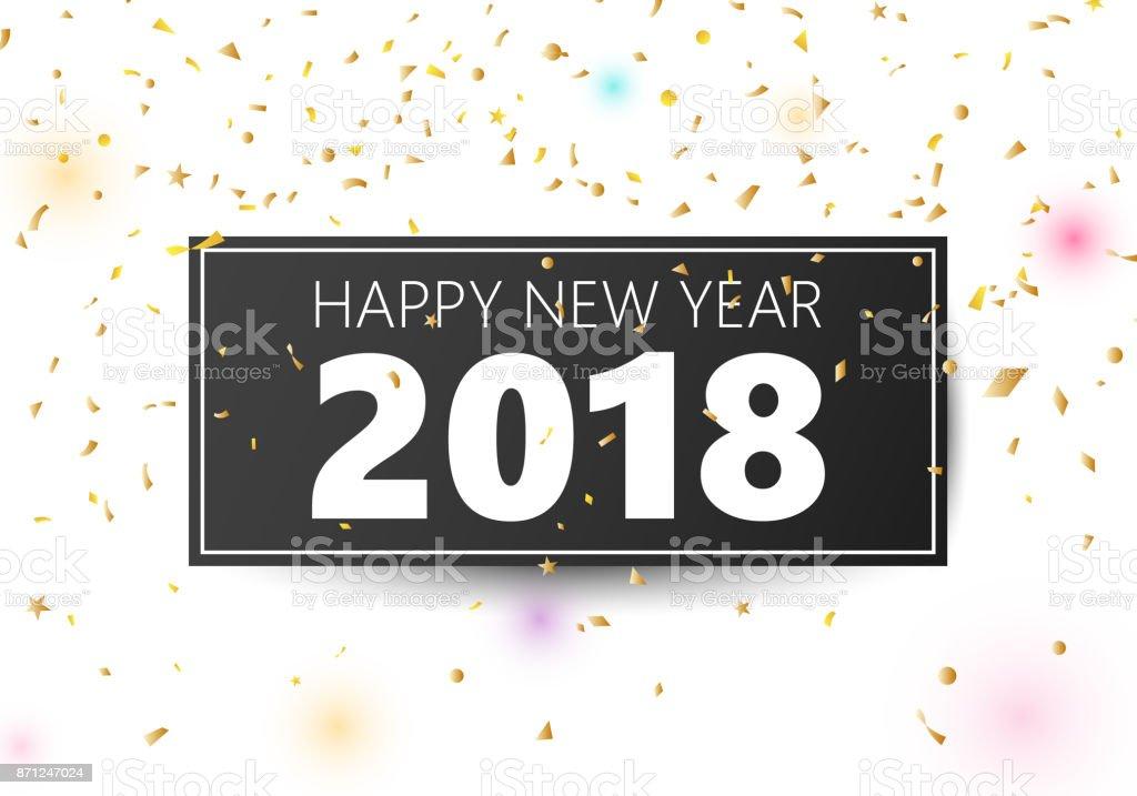 Happy New Year 2018 banner vector art illustration