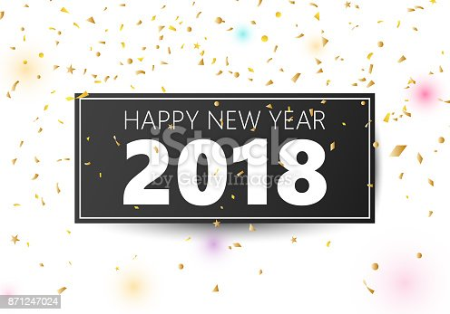 happy new year 2018 banner stock vector art more images of 2018 871247024 istock