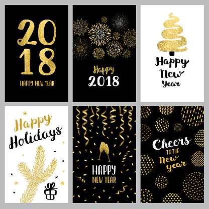 Happy new year 2018 banners