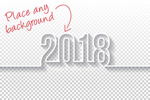 stockillustraties, clipart, cartoons en iconen met gelukkig nieuwjaar 2018 design - lege backgroung - 2018