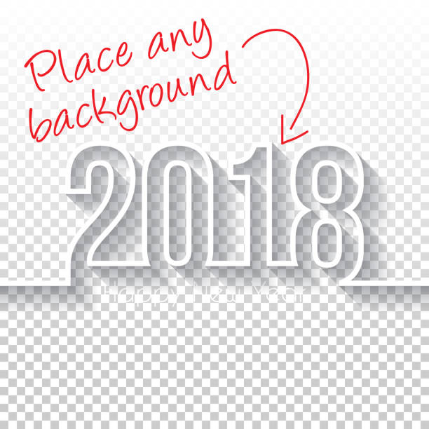happy new year 2018 design - blank backgroung - new years eve stock illustrations, clip art, cartoons, & icons