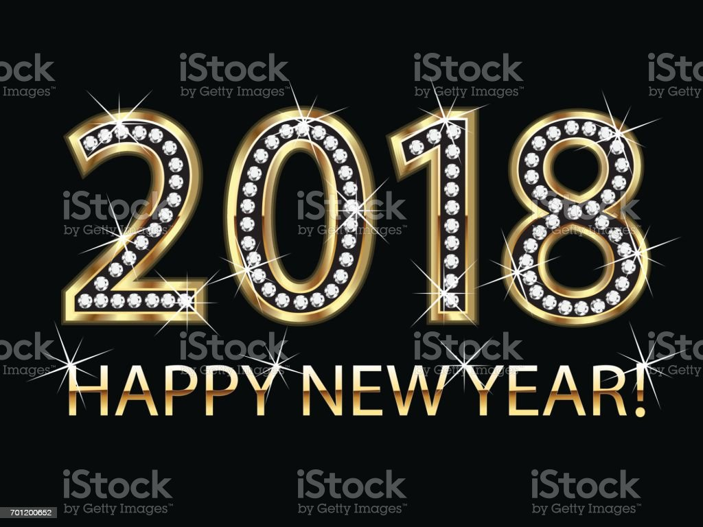 happy new year 2018 gold background vector royalty free happy new year 2018 gold background