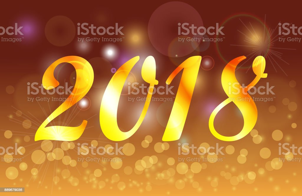 happy new year 2018 golden celebration background banner royalty free happy new year 2018