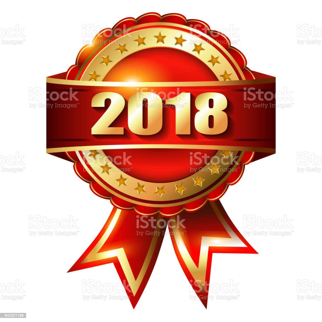 happy new year 2018 golden label and stamp royalty free happy new year 2018
