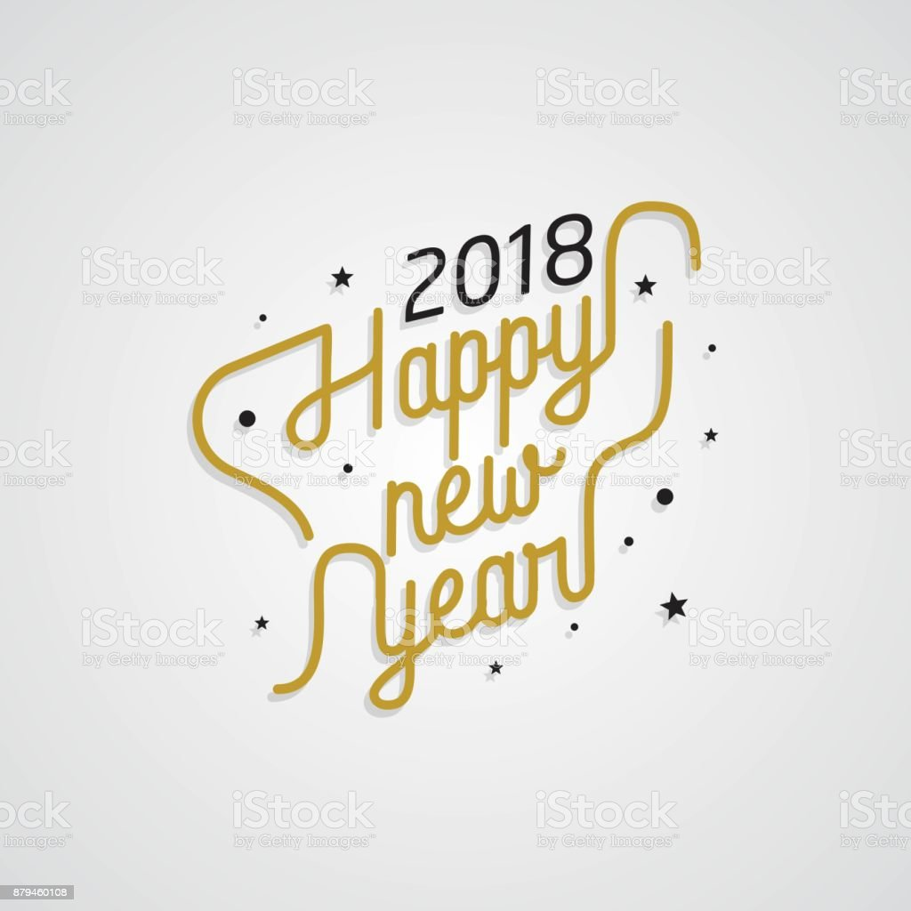 happy new year 2018 golden typography on white background royalty free happy new year