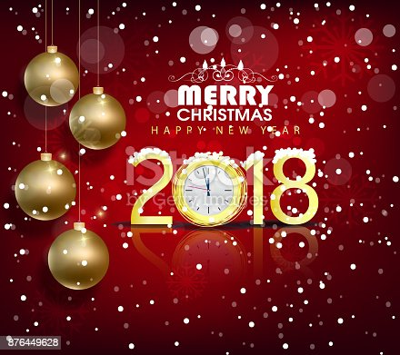 Happy new year 2018 greeting card and merry christmas chinese new happy new year 2018 greeting card and merry christmas chinese new year of the dog stock vector art more images of 2018 876449628 istock m4hsunfo