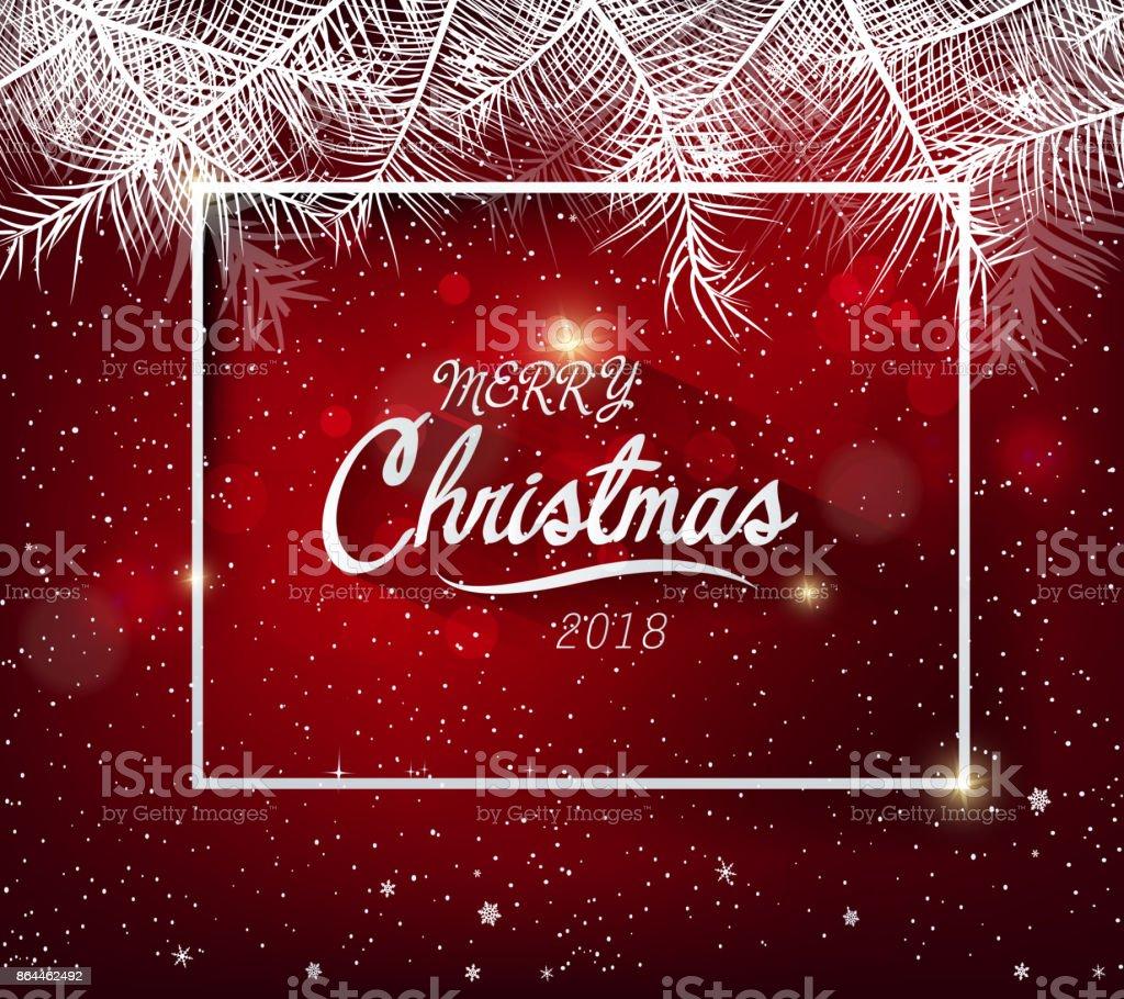Frohes Neues Jahr 2018 Grußkarte Und Frohe Weihnachten Stock Vektor ...