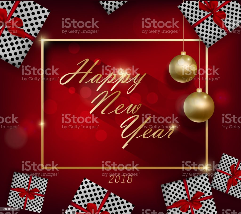 Happy new year 2018 greeting card and merry christmas stock vector happy new year 2018 greeting card and merry christmas royalty free happy new year 2018 kristyandbryce Choice Image