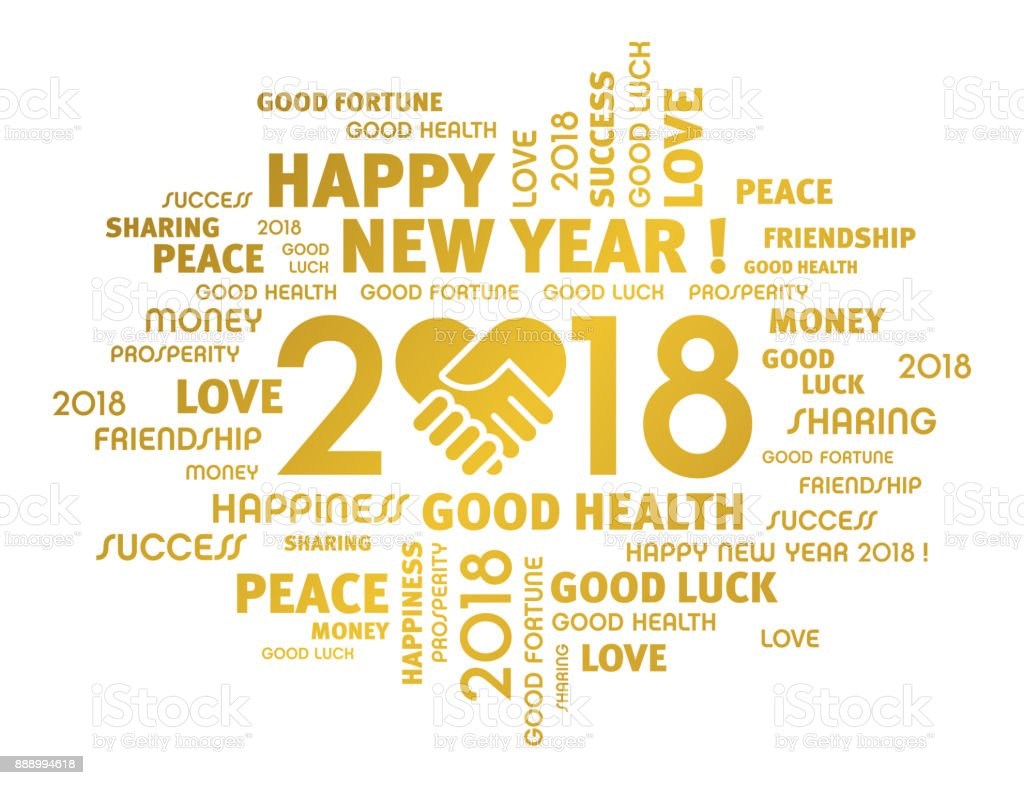 Happy New Year 2018 Greeting Card For Sharing Stock Vector Art