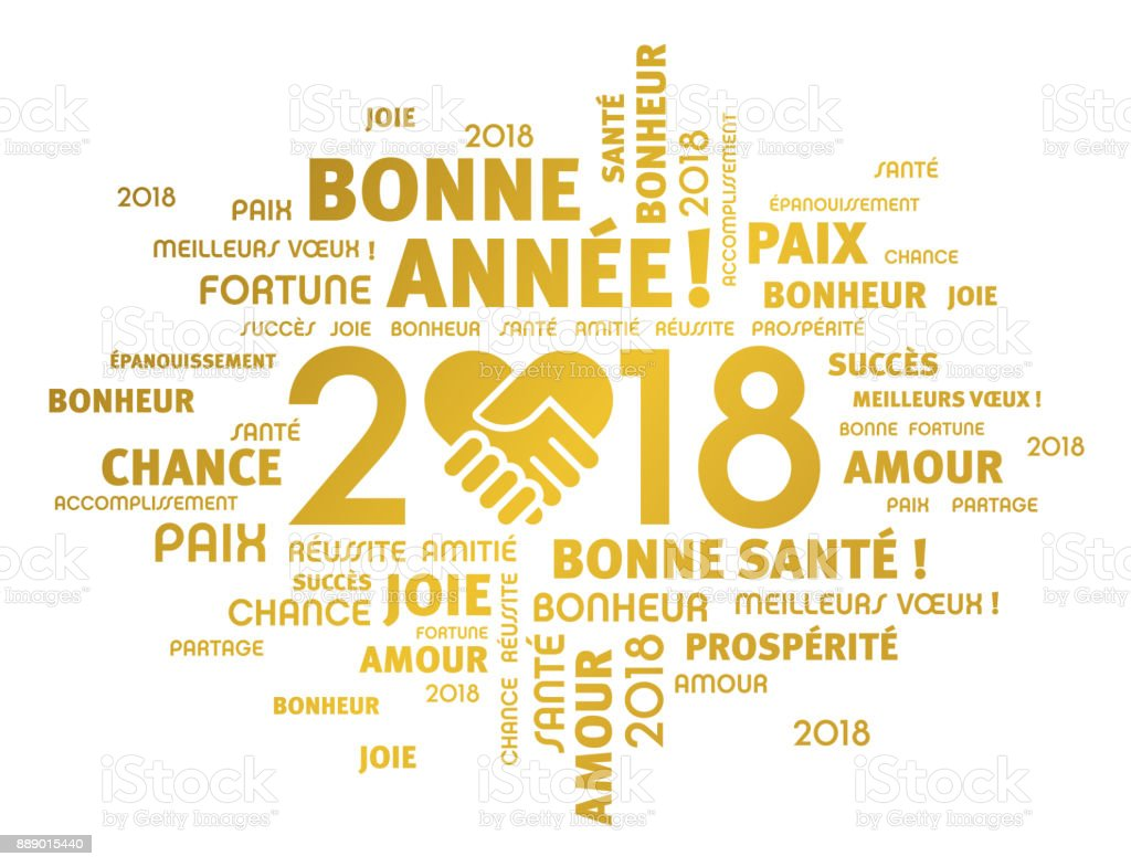Happy new year 2018 greeting card in french stock vector art more happy new year 2018 greeting card in french royalty free happy new year 2018 greeting m4hsunfo