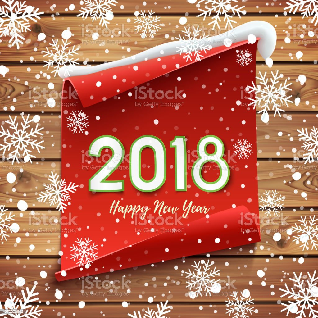 Happy New Year 2018 Greeting Card Stock Vector Art More Images Of