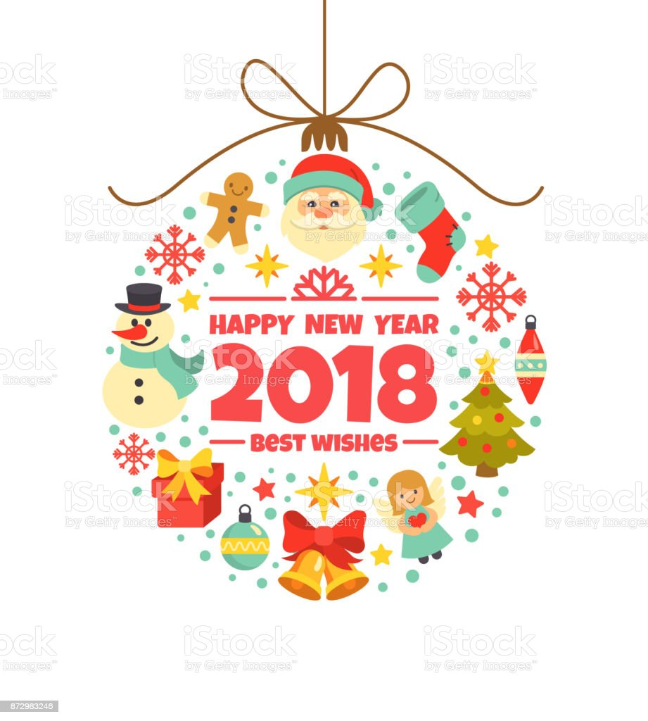 happy new year 2018 greeting card royalty free happy new year 2018 greeting card