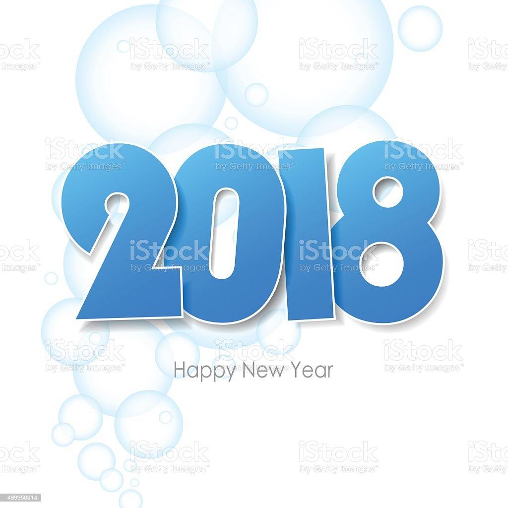 Frohes Neues Jahr Gruß 2018 Erforderlich Wasser Blasen Hintergrund ...