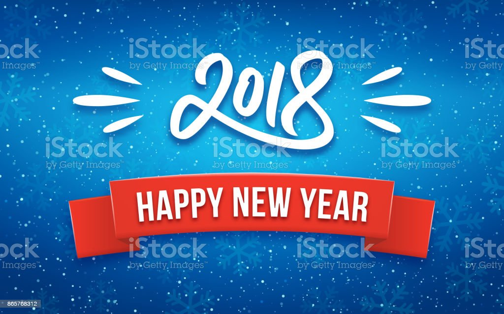 happy new year 2018 greeting card with paper cut royalty free happy new year 2018