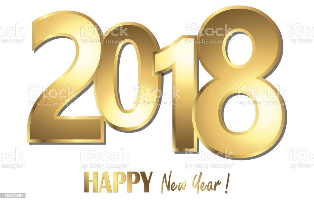 Frohes Neues Jahr 2018 Grüße Hintergrund Stock Vektor Art und mehr ...