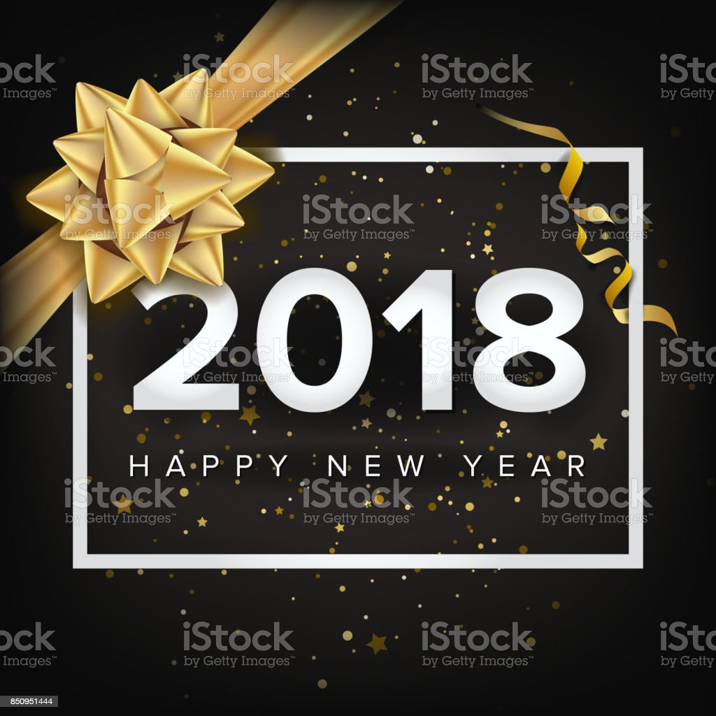 happy new year 2018 invitation vector christmas greeting card modern new year poster