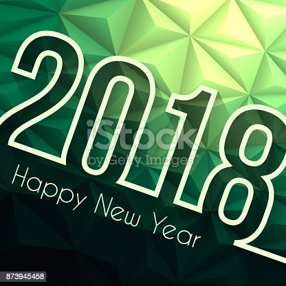 happy new year 2018 low poly abstract background stock vector art 873945458 istock