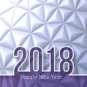 Happy new year 2018 with space for your text. Creative greeting card with long shadows and a modern geometric background can be used for design. The layers are named to facilitate your customization. Vector Illustration (EPS10, well layered and grouped). Easy to edit, manipulate, resize or colorize. Please do not hesitate to contact me if you have any questions, or need to customise the illustration. http://www.istockphoto.com/portfolio/bgblue