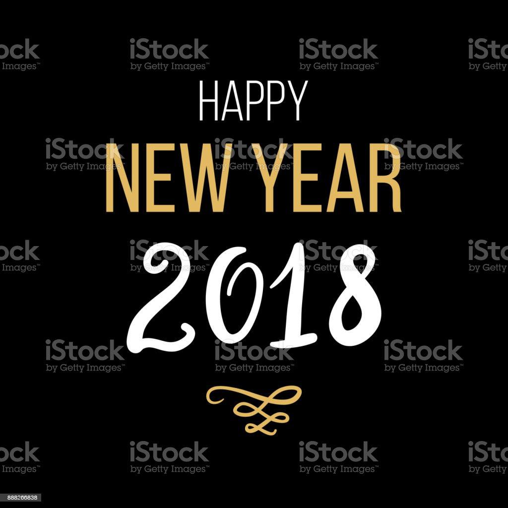 Ilustração De Feliz Ano Novo 2018 Frase Letras De Tinta De Natal E