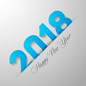 Happy new year 2018 text desain
