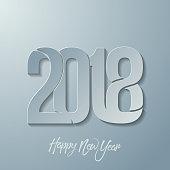Happy new year 2018 text desain vector
