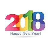 新年あけましておめでとうございます 2018 本文デザインのベクトル