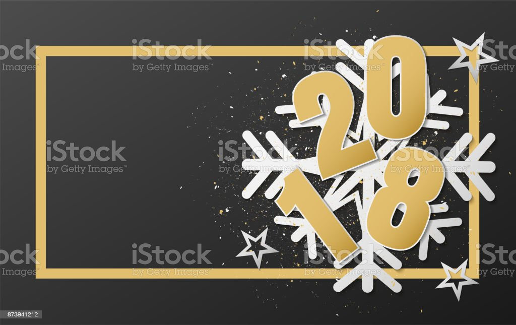 happy new year 2018 vector design royalty free happy new year 2018 vector design stock