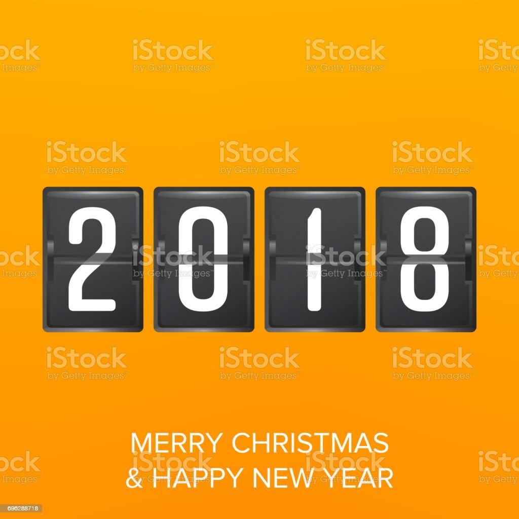 Happy New Year 2018 Vektorfrohes Neues Jahr 2018 Gruß Hintergrund ...