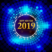 Vector of Happy New Year 2018 with dot pattern background. EPS AI 10 file format.