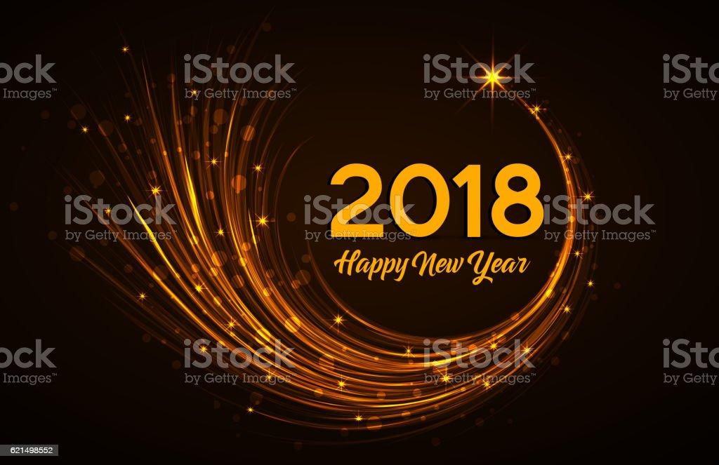 Heureuse nouvelle année 2018 heureuse nouvelle année 2018 – cliparts vectoriels et plus d'images de 2018 libre de droits