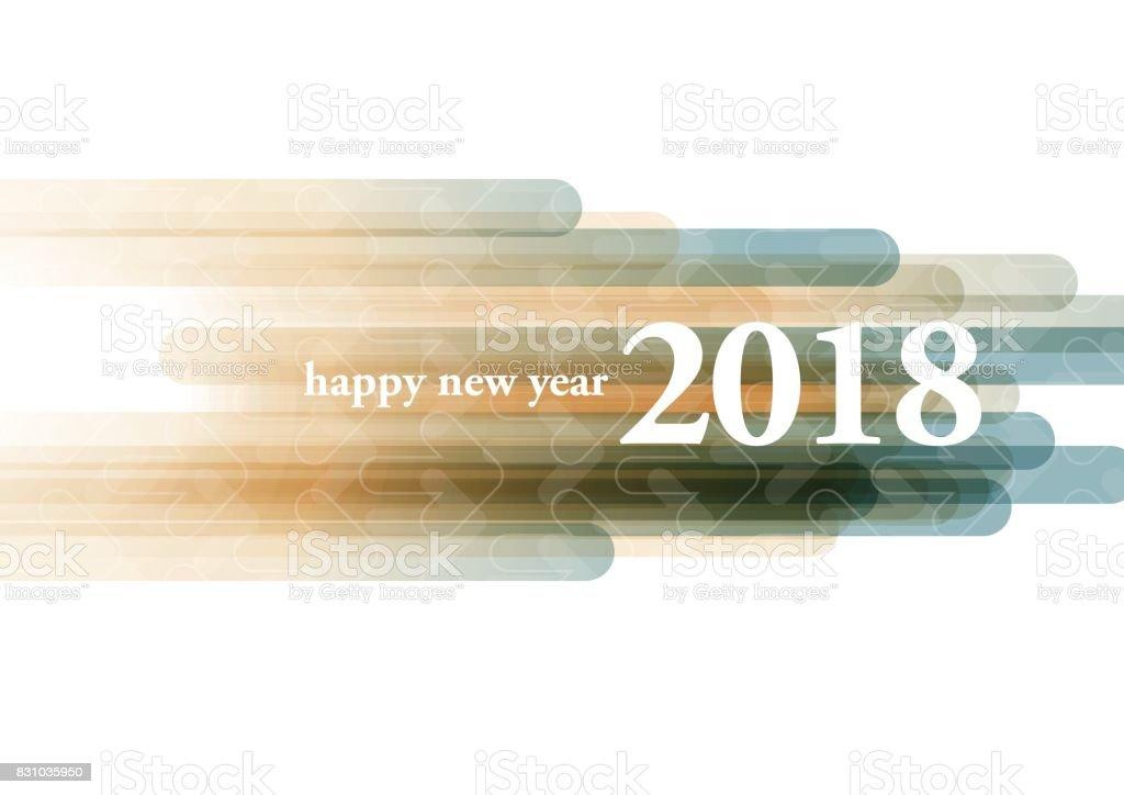Frohes neues Jahr 2018 – Vektorgrafik