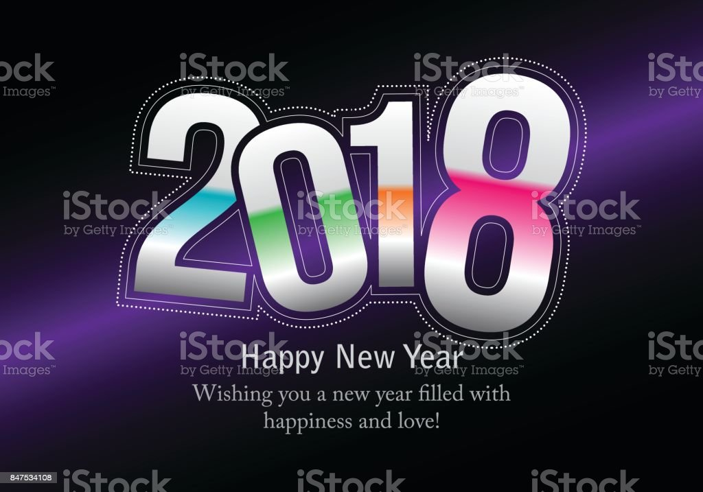 happy new year 2018 royalty free happy new year 2018 stock vector art