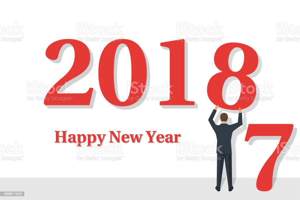 happy new year 2017 sign on white background clip art vector images illustrations