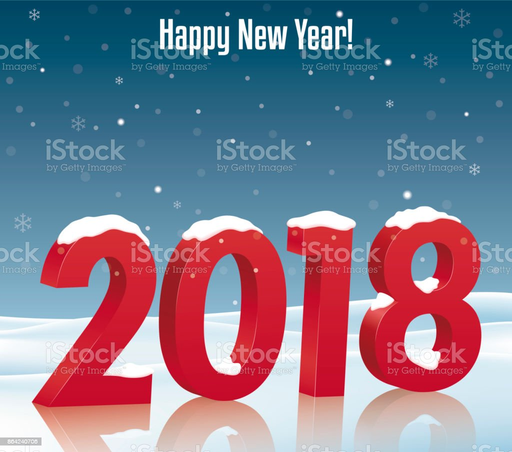 Happy New Year 2018 royalty-free happy new year 2018 stock vector art & more images of abstract