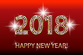 Happy new year 2018 happy holidays greetings card