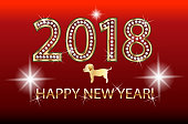 Happy new year 2018 happy holidays greetings card vector image template