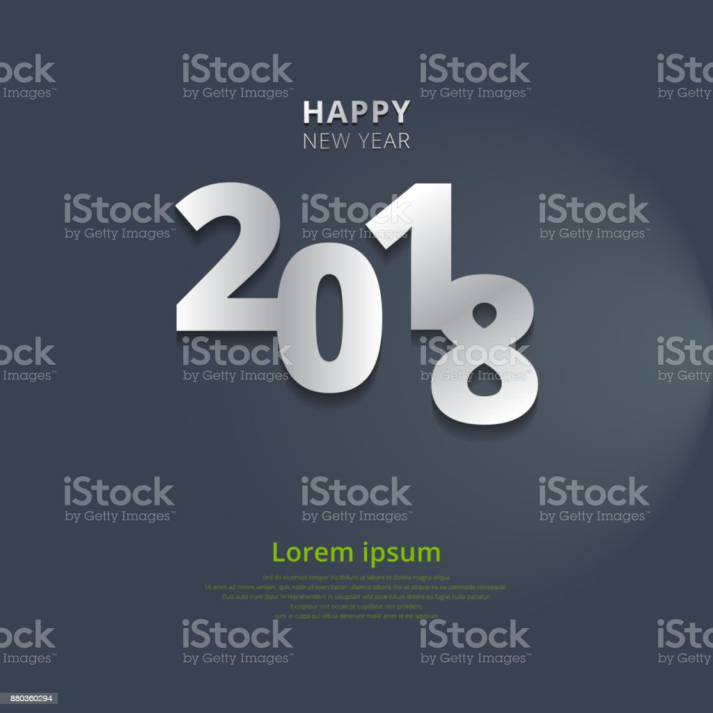 happy new year 2018 with lighting on gray background royalty free happy new year