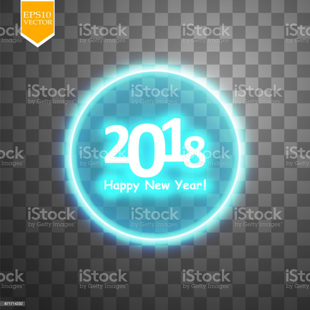 happy new year 2018 with target on transparent backgraund background royalty free happy new year