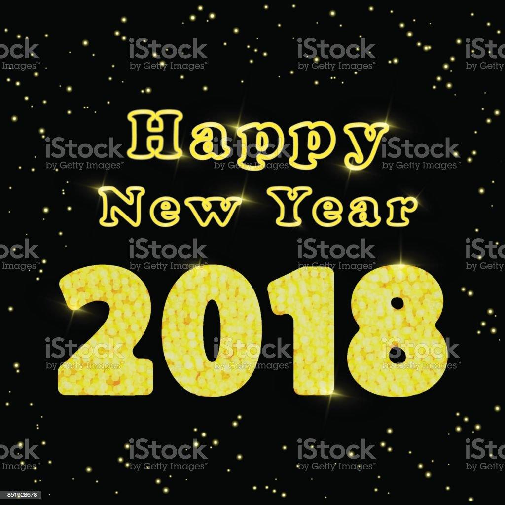 Frohes Neues Jahr 2018 Wörter Mit Herzlichen Glückwunsch über Die ...