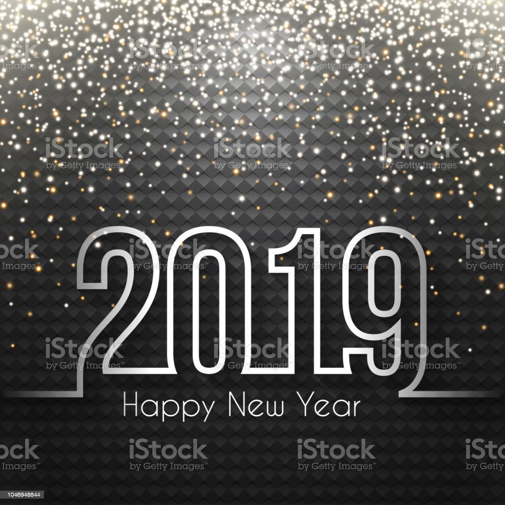 happy new year 2019 abstract background with gold glitter royalty free happy new year