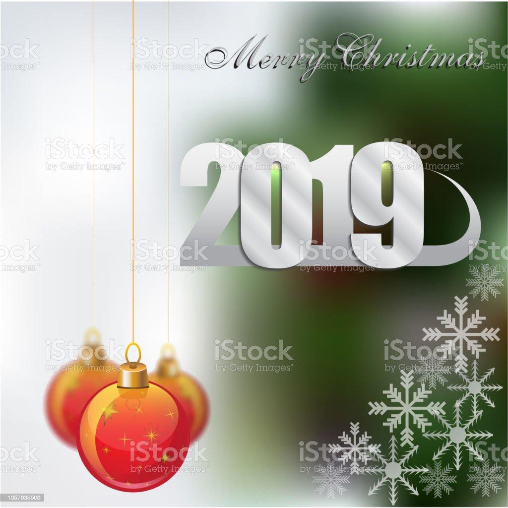 Ilustración De Feliz Año Nuevo 2019 Decoración De Fondo