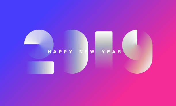 happy new year 2019 background for your christmas - new years day stock illustrations