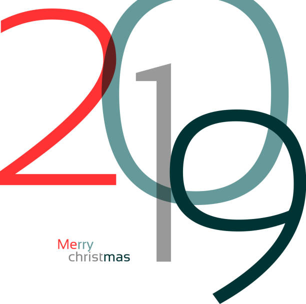 Happy New Year 2019 Background for your Christmas vector art illustration