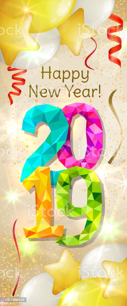 happy new year 2019 banner royalty free happy new year 2019 banner stock vector art