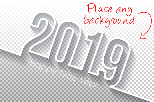 Happy new year 2019 Design - Blank Backgroung