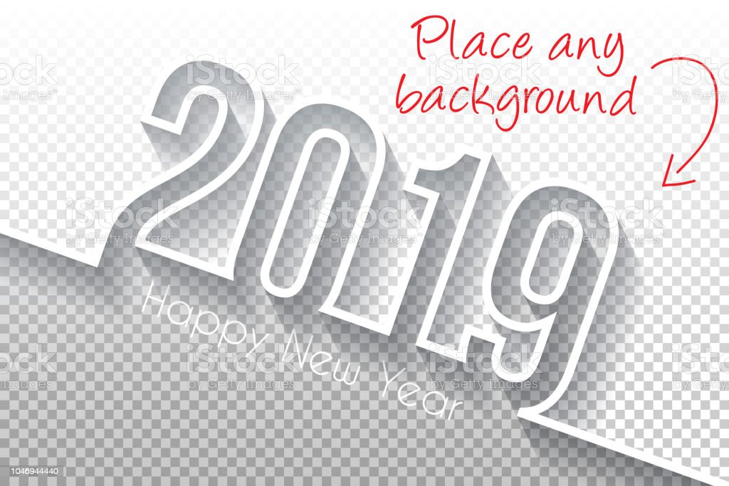 Happy new year 2019 Design - Blank Backgroung vector art illustration