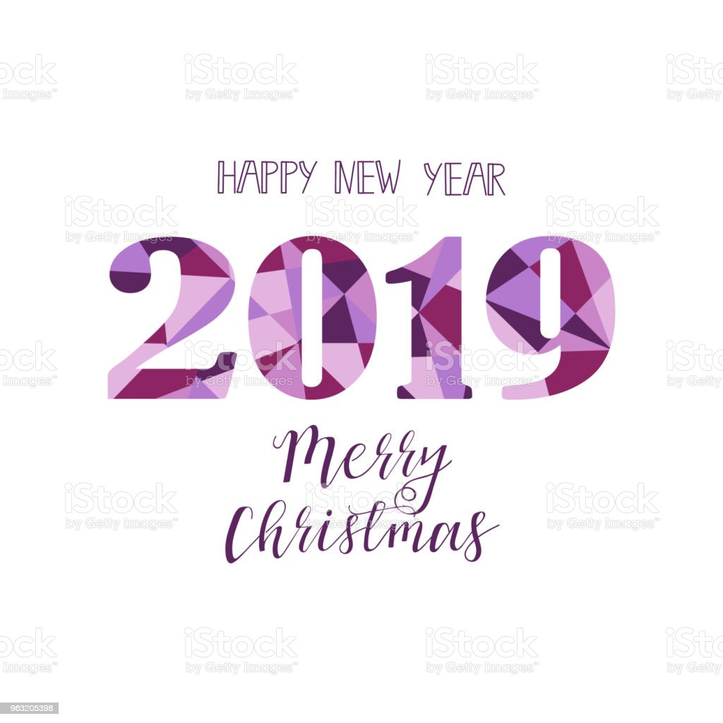 Happy New Year 2019 Design Elements For Design Of Gift Cards ...