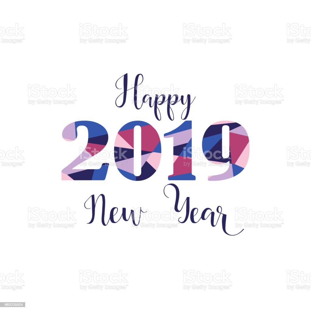 Happy New Year 2019 Design Elements For Design Of Gift Cards