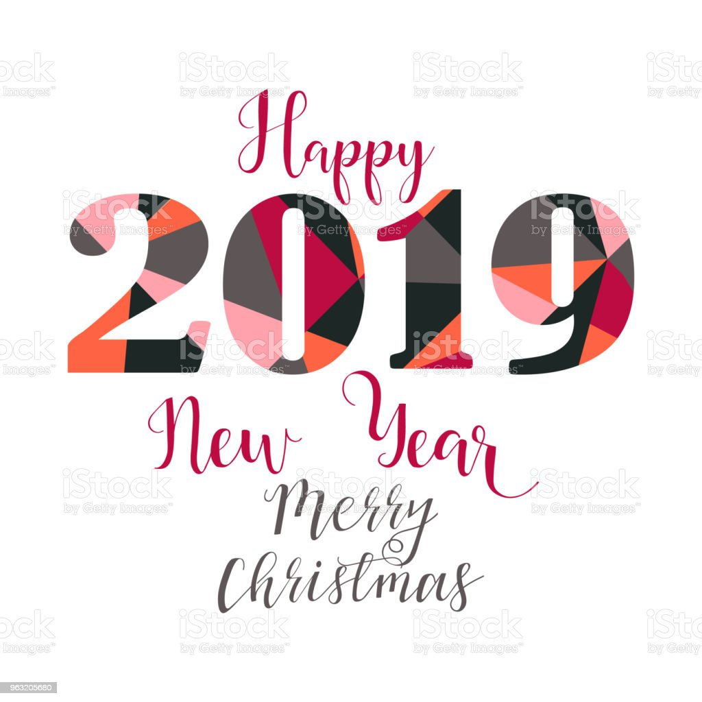 happy new year 2019 design elements for design of gift cards brochures flyers