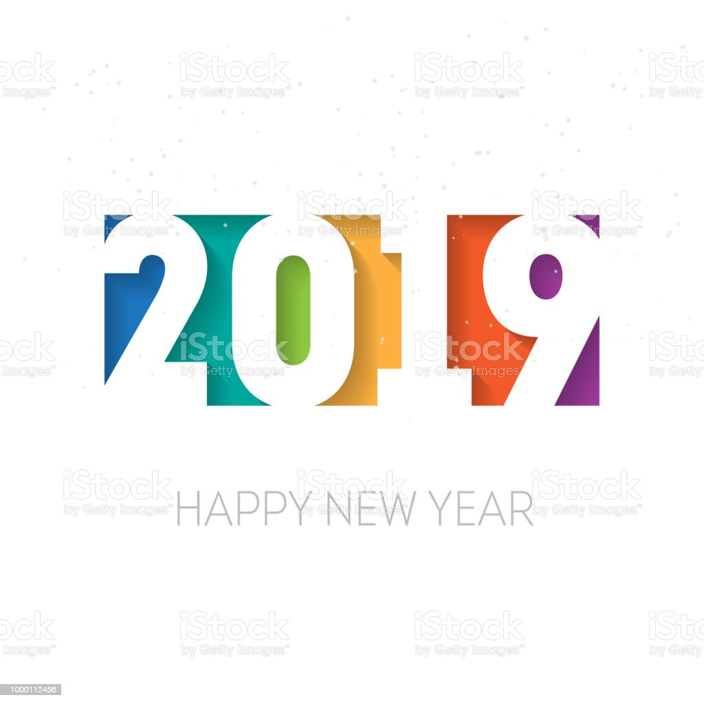 happy new year 2019 greeting card or calendar cover design template cover of business